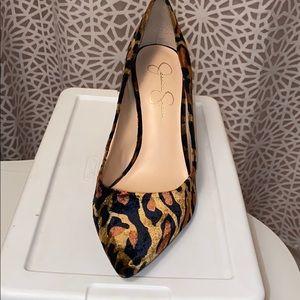 Leopard animal Velvet Heels